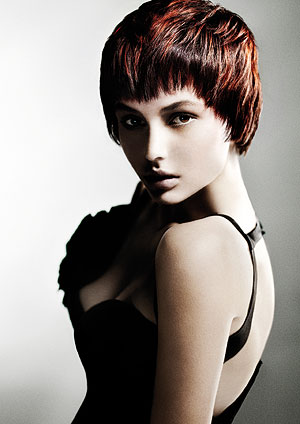 Kerry Goudas uses low lighting to give texture to short hair.