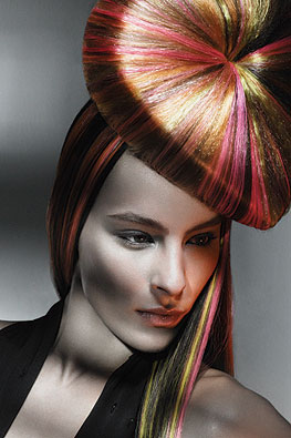 Fake hair is used to make the heart shaped hat or hair and add colour. Brad Ngata