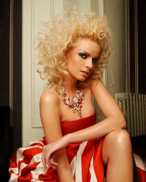 RoystonBlythe midlength blonde hair with curls