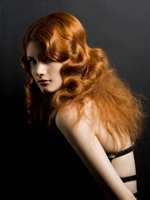 Angelo Seminara of Trevor Sorbie sets the hair to form waves and curls and changes the hair texture to fuzz at the ends