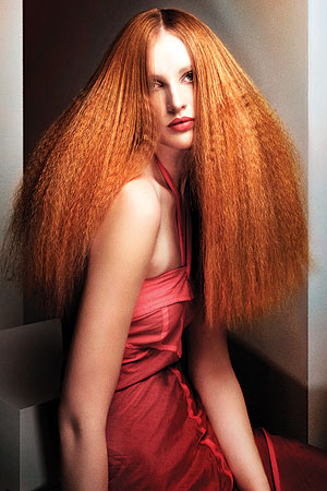 The perfect crimped hair style from Maria Legudi